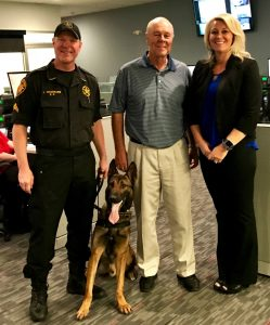 Shiver Staff with K9 Max and Police Officer